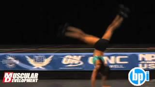 Nicolette Spencer 2012 NPC Jr USA fitness posing routine