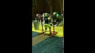 18 year old Ksenia Maximova 170kg/ 375 Lbs Squat