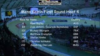 UCI World Track Champs 08 Mens Keirin First Round Heat 3&4