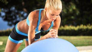 FITNESS: Total Body Workout W/ DB and Stability Ball&Voice Over