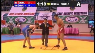 A.Ghomi (IRI) vs O.Boltin (KAZ) 120 kg 1-2 FINAL - 2013 Asian Junior Wrestling Championships