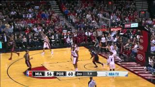 Chris Bosh 37 points (Game winner) vs Blazers - Full Highlights (2013.12.28)