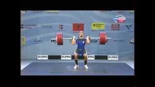 Men 77 kg men clean&jerk European Weightlifting Championships Tirana 2013