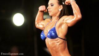 Biceps and Abs Flexing by Viktoria Fadgyas Posing on Bodysport Contest