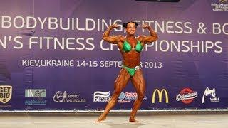 Eva Lagerhorn Blom - Sweden, 6th place at World Women's Bodybuilding Championship in Kiev 2013
