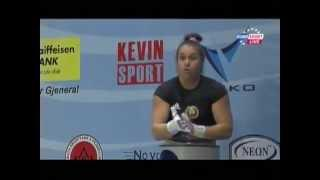 Women 69kg clean&jerk European Weightlifting Championships Tirana 2013
