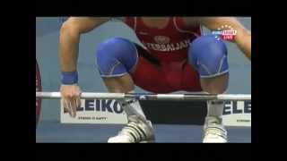 Men 62 kg snatch  European Weightlifting Championships Tirana 2013