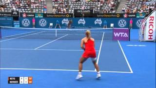 Madison KEYS (USA) vs Angelique KERBER (GER) SEMI FINAL HIGHTLIGHTS Apia International Sydney 2014