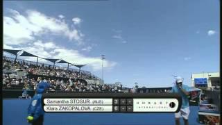 Samantha Stosur vs Klara Zakopalova, Hobart International 2014 - Full Match