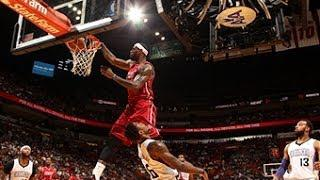 LeBron James Ridiculous Dunk OVER Ben McLemore