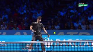 ATP World Tour Finals 2011 - Federer (God Mode) vs Nadal - 720p Full Match