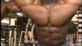 Bodybuilder Michael Lockett cable crossovers