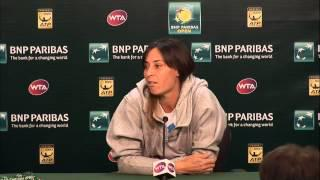 BNP Paribas Open: Flavia Pennetta Fourth Round Press Conference