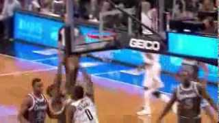 Andray Blatche's nasty poster jam on Kyle O'Quinn 2014 01 21