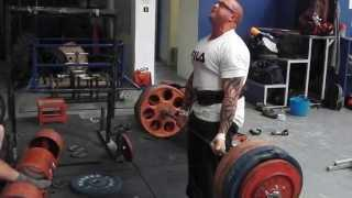 Deadlifting at Pro Strength&Fitness Swindon, UK.