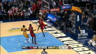 Terrence Ross' MONSTER Dunk on Kenneth Faried