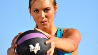 25 Minute Medicine Ball&Step total body workout with voice over