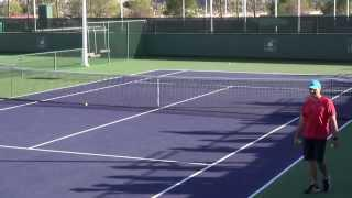 2014 Indian Wells: Simona Halep Pre-Semifinal Practice