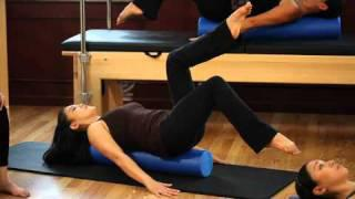 Upside-Down Pilates -  Foam Roller - Lesson 60 - Part 3 Of 4 - HD