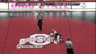 Zach Sanders vs Bo Touris (125) - College Wrestling 2011