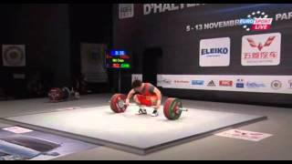 2011 Paris World Weightlifting Championships - 69kg  snatch