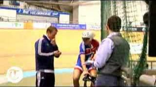 World Track Cycling: Rebecca Romero in training