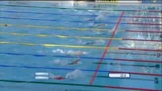 Therese Alshammar New World Record 50m Semifinal Butterfly Rome 09 07 31