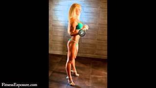 Biceps Curl on Photoshooting by Fitness Model Timea Varga