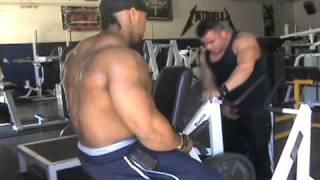 Tyrus Hughes training back at Metroflex Gym in Plano