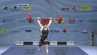 Women +75 kg clean&jerk European Weightlifting Championships Tirana 2013