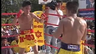 Muay Thai Boran KO fight no gloves Cambodia vs Burma