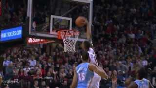 Damian Lillard nasty dunk on the Nuggets (2014.01.23)