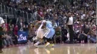 Blake Griffin shows off his sick handles vs Nuggets (2013.12.21)