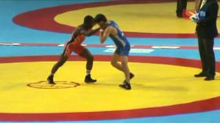 2011 Worlds Greco 55kg - Arsen Eraliev (KGZ) vs. Spenser Mango (USA)