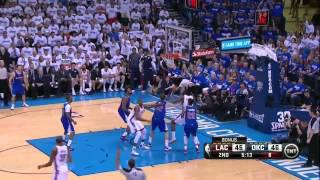 Russell Westbrook triple double vs Clippers (2014 NBA Playoffs CSF GM2)