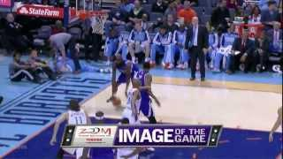 Quincy Acy monster dunk on the Bobcats 2013 12 17