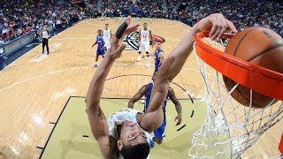 Anthony Davis Dunks Down the Reverse Off the Alley Oop