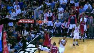Lebron James amazing poster dunk on Millsap (2013.12.23)