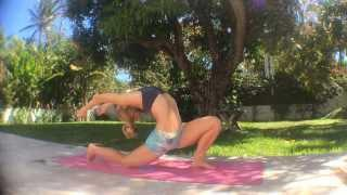 Yoga Backbends, Anjanayasana with Kino