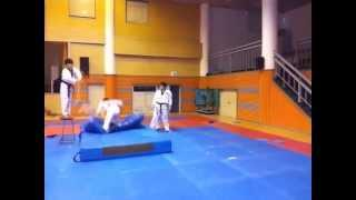 Extremely high and acrobatic Taekwondo kick