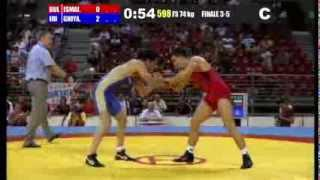 M.Ghiyas (IRI) vs E.Ismail (BUL) 74kg 3-5 Final - 2013 Junior World Championships