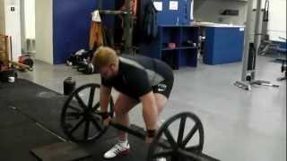John Clark working axle press