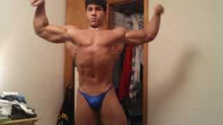 TEEN BODYBUILDER POSING 12 WEEKS OUT