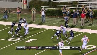 Alabama's Trent Richardson scores a 76 yard touchdown against Ole Miss 10-15-2011