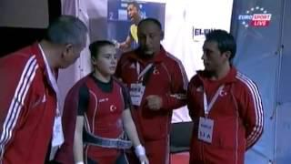 Women 53 kg clean&jerk  European Weightlifting Championships Tirana 2013
