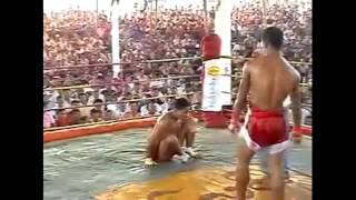 Brutal Burma vs Muay Thai fight no gloves knockoutมวยไทย