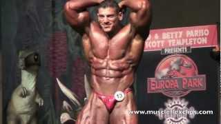 IFBB Pro Zaher Moukahal on stage 2011 Europa Supershow