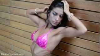 Agota Domokos Fitness Model Photoshooting Video at WBPF Competition