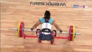2013 World Weightlifting Championships Women's 63 kg Snatch , Wroclaw, Poland