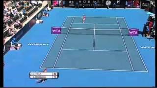 Samantha Stosur v Klara Zakopalova Hobart International Tennis 2014 - Match Highlights